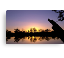 Mirror image - sunset reflected Canvas Print