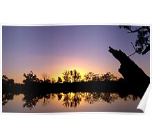 Mirror image - sunset reflected Poster