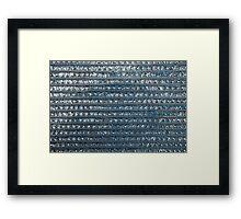 Seamless Metallic Background  Framed Print