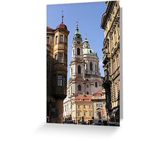 St Nicolas Church, Prague Greeting Card