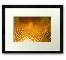Golden alligator patterned background Framed Print