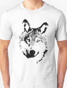 black and white, cartoon head of the beast, wolf T-Shirt