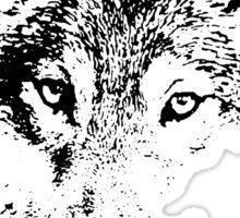 black and white, cartoon head of the beast, wolf Sticker