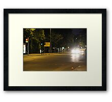 Downtown suburb Framed Print