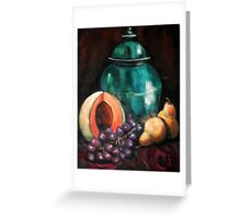 Turquoise Jar Still Life Greeting Card
