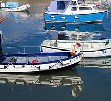 Lyme Regis Harbour Reflections - July by Susie Peek