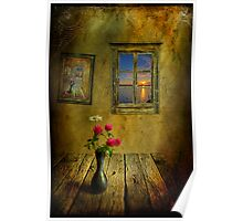 Old cottage on the beach Poster