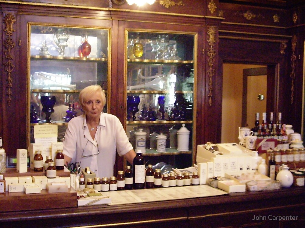 Old Apothecary in Florence by John Carpenter