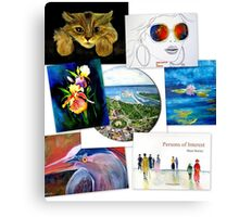 collage of artwork Canvas Print