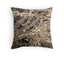 Nature Encased in Ice Throw Pillow