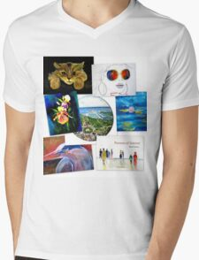 collage of artwork Mens V-Neck T-Shirt