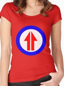 Retro Sixties Inspired Mod Arrow Target Women's Fitted Scoop T-Shirt