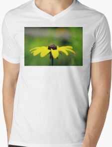 Yellow Mens V-Neck T-Shirt