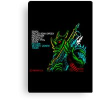 Rex - 80's video games Canvas Print