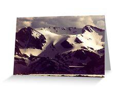 Late Sun Mountains Greeting Card