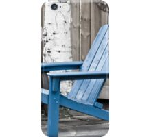 Blue Seating For Two iPhone Case/Skin
