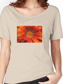 Macro capture of Orange Zinnia flower Women's Relaxed Fit T-Shirt