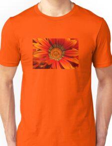 Macro capture of Orange Zinnia flower Unisex T-Shirt
