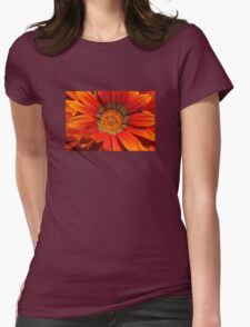 Macro capture of Orange Zinnia flower Womens Fitted T-Shirt