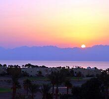 rising sun on Jordan by Elie Le Goc