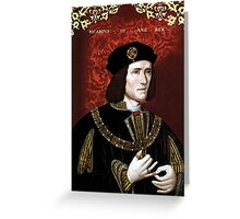 King Richard III of England Greeting Card
