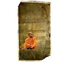 Monk at Angkor Wat Cambodia Photographic Print