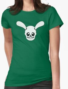 Bunny Skull Loves You! Womens Fitted T-Shirt