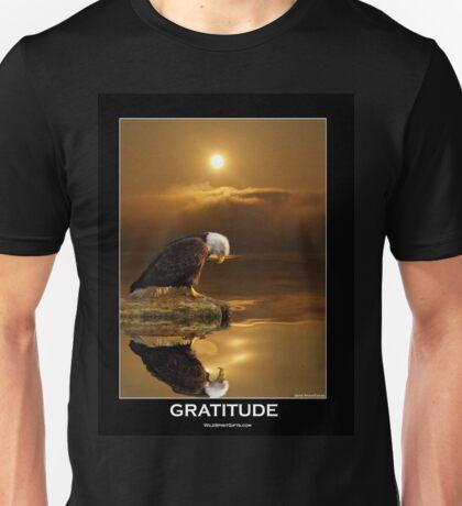 """Gratitude"" Bald Eagle Unisex T-Shirt"