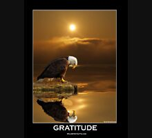 """Gratitude"" Bald Eagle Unisex T-Shirt"