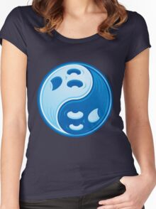 Ghost Yin Yang Women's Fitted Scoop T-Shirt