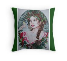 Christmas yule fairy faerie fantasy  Throw Pillow