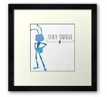-Flick Stay Unique Framed Print