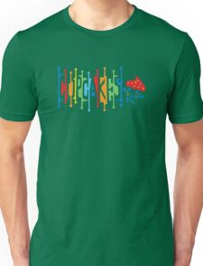 Retro Cupcakes - on lights Unisex T-Shirt