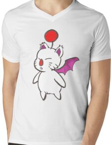 Final Fantasy Mog Mens V-Neck T-Shirt