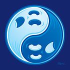Ghost Yin Yang Symbol by fizzgig