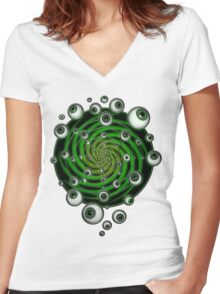 EMERALD PSY EYE by conor graham Ethereal C2010. Women's Fitted V-Neck T-Shirt