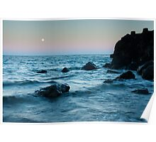 Sunset at Agate Beach Poster