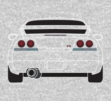 Nissan GTR R33 White One Piece - Long Sleeve