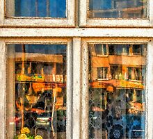 reflection in the window by Rostislav Bouda
