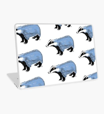 Blue Badger Laptop Skin