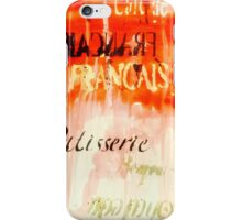 Letters on abstract  iPhone Case/Skin