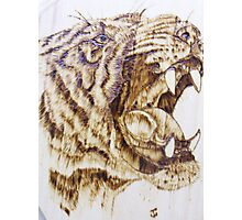 Roaring Tiger Head Photographic Print
