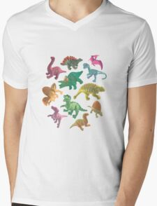 Dino Buddies Mens V-Neck T-Shirt