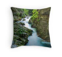 Vintgar Gorge  Throw Pillow