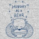 Hungry As A Bear (blue print) by TsipiLevin