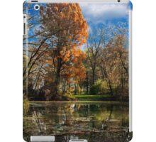 Pond, beautiful fall colors iPad Case/Skin