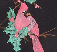 Cardinal in Winter by judykay