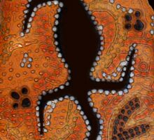 """Goanna Dreamtime"" Sticker"
