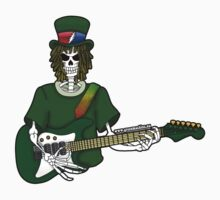 Dead Guitar Player Sticker by TheGreenMachine