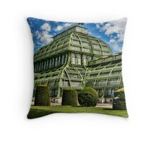 Tropical House in an Austrian Zoo Throw Pillow